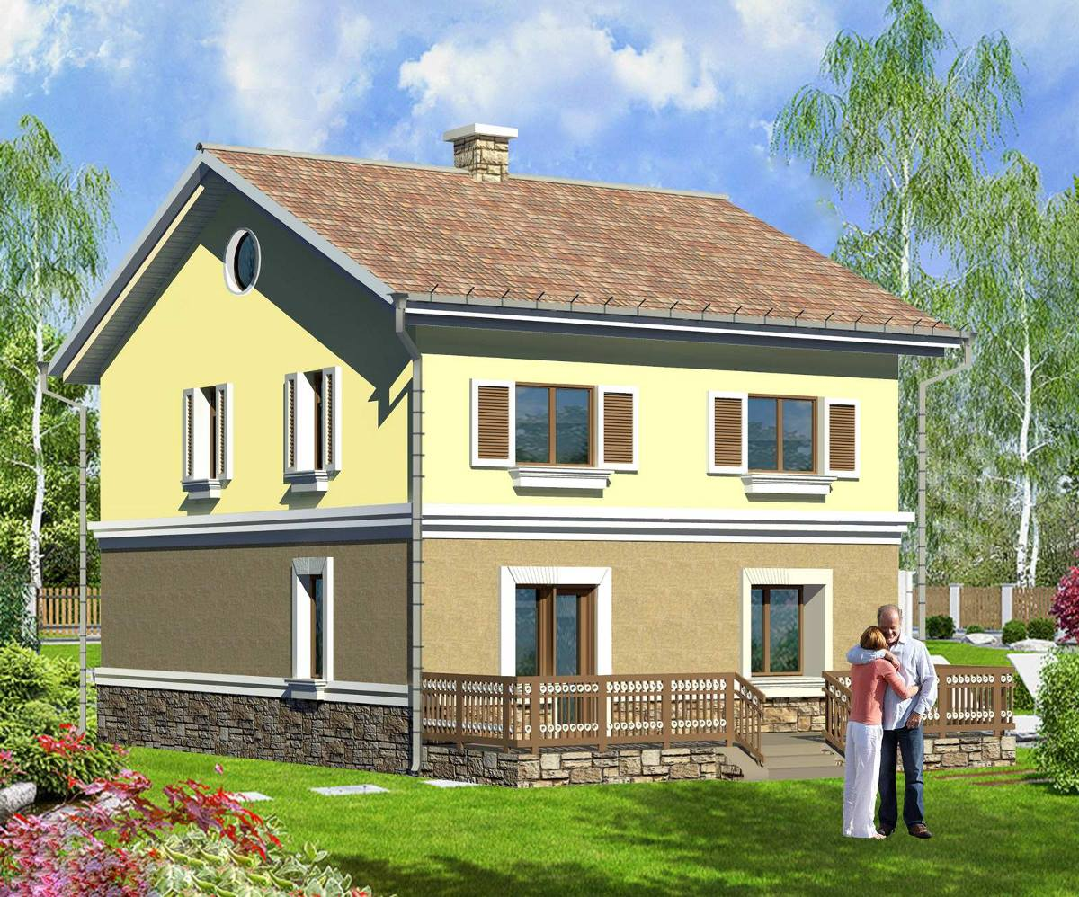 Simple two story houses house plan 39 39 eve 39 39 142 sqm for Simple two story house