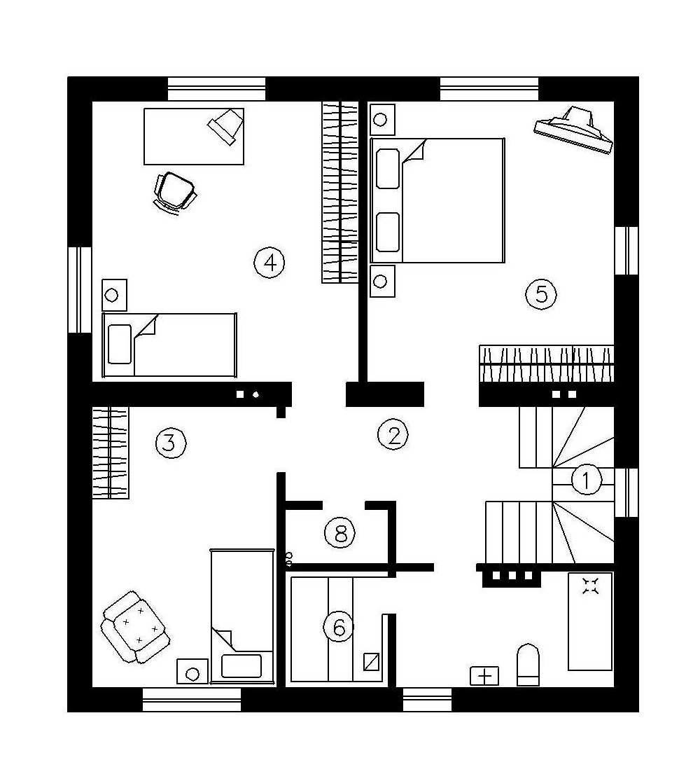 Simple two story houses house plan 39 39 eve 39 39 142 sqm for Simple house blueprint