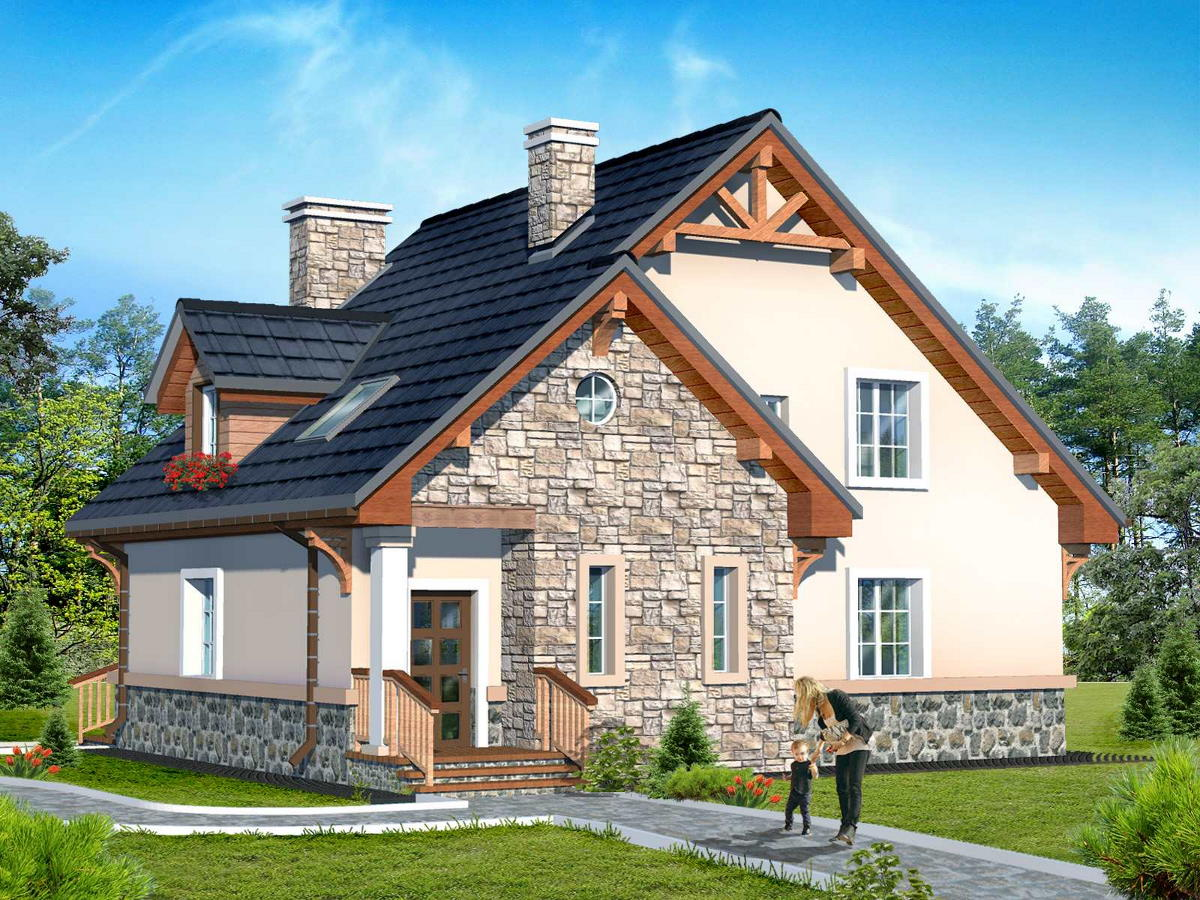 Projects of houses are in ready and individual