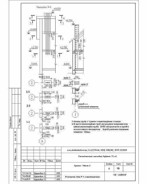 Схема вентиляционных и дымовых